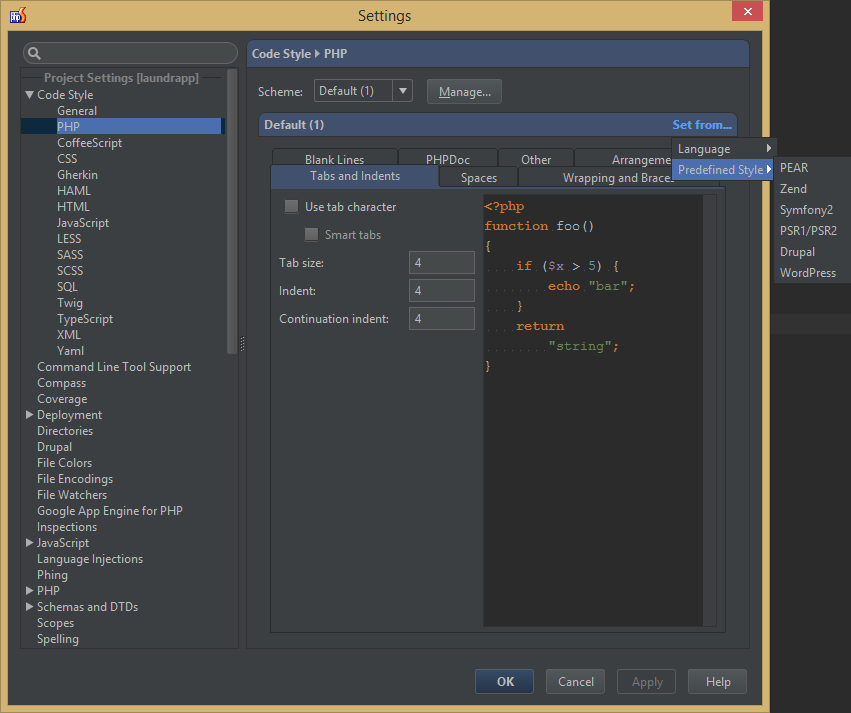How to configure PHPStorm for PSR-2 - Laravel Daily