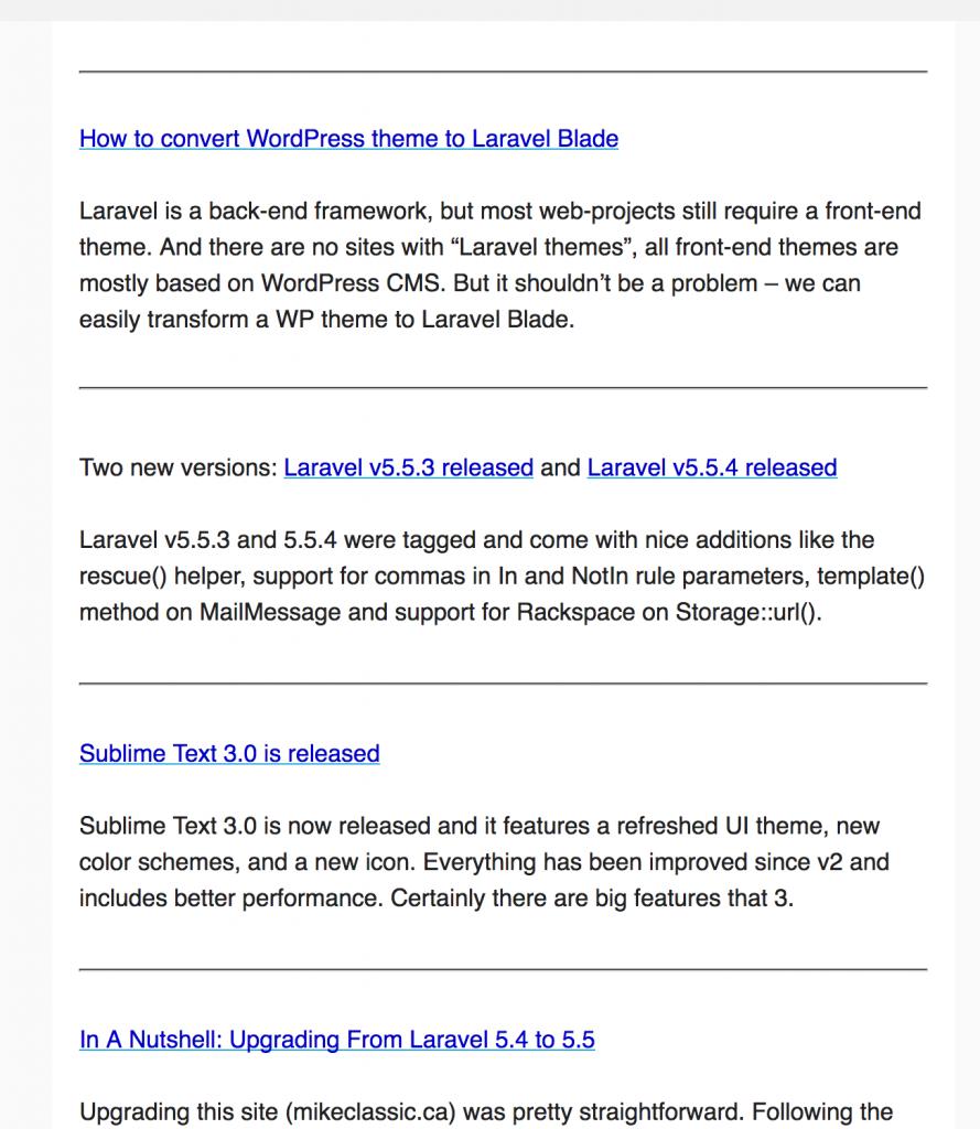 laravel newsletter