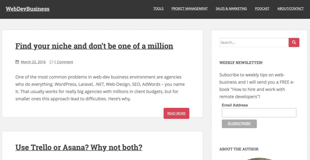 Web-development business