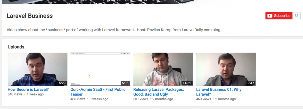 Laravel Business Youtube