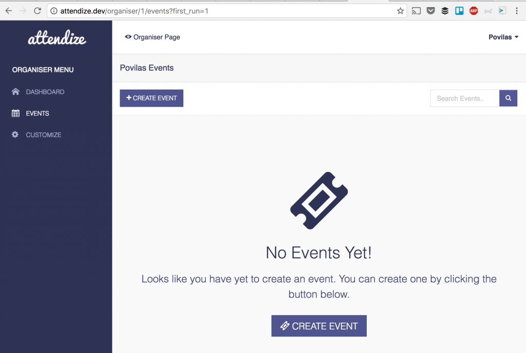 Attendize - event tickets selling system based on Laravel 5