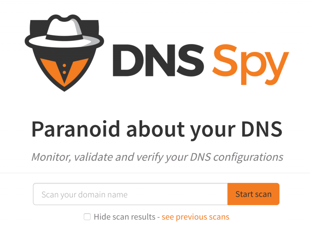 You can scan your domain right from the homepage!