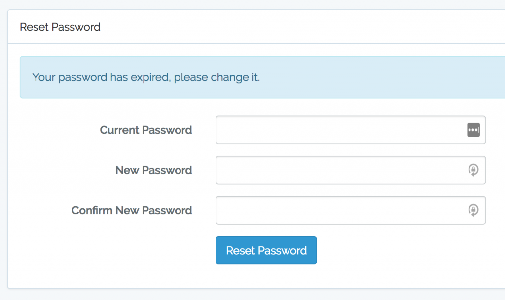 laravel password expired