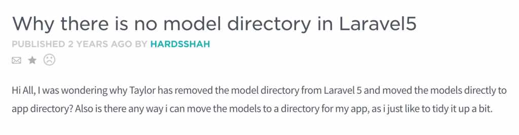 laravel y u no models