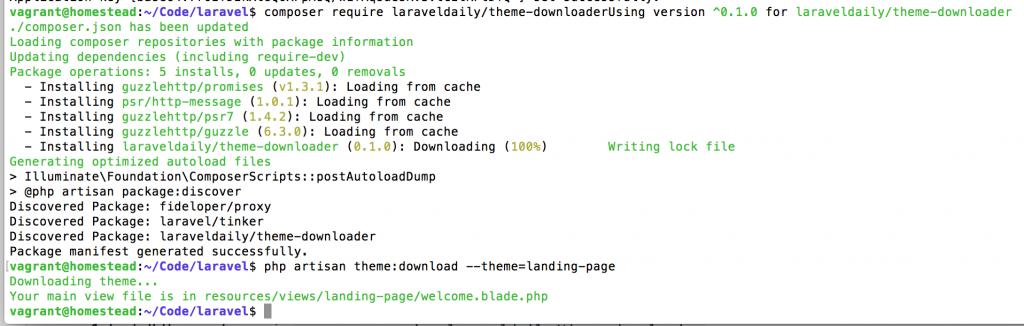 laravel theme download