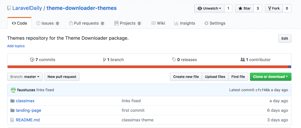 ThemeDownloader v0 1: apply Bootstrap theme with Artisan command