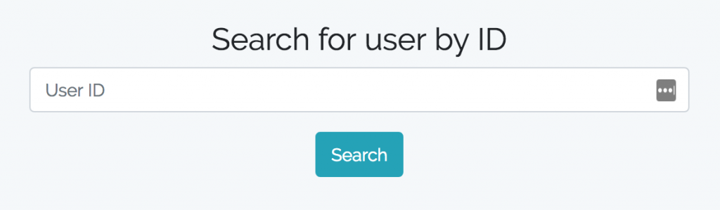 user search by id