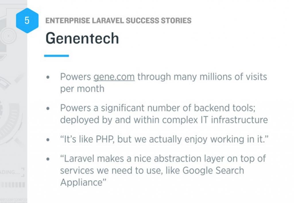 laravel genentech