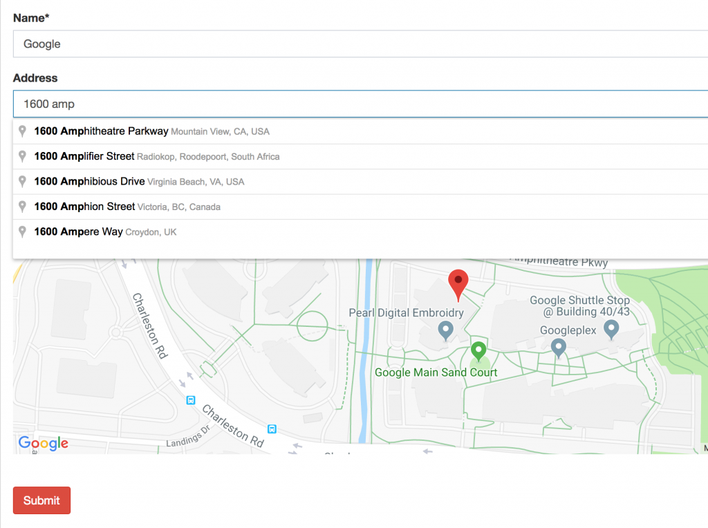 Laravel: Find Addresses with Coordinates via Google Maps API