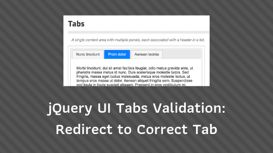 Laravel Form with jQuery UI Tabs: Validation Error Redirect to
