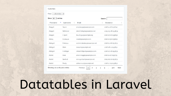 New Online Course: Datatables in Laravel - Laravel Daily