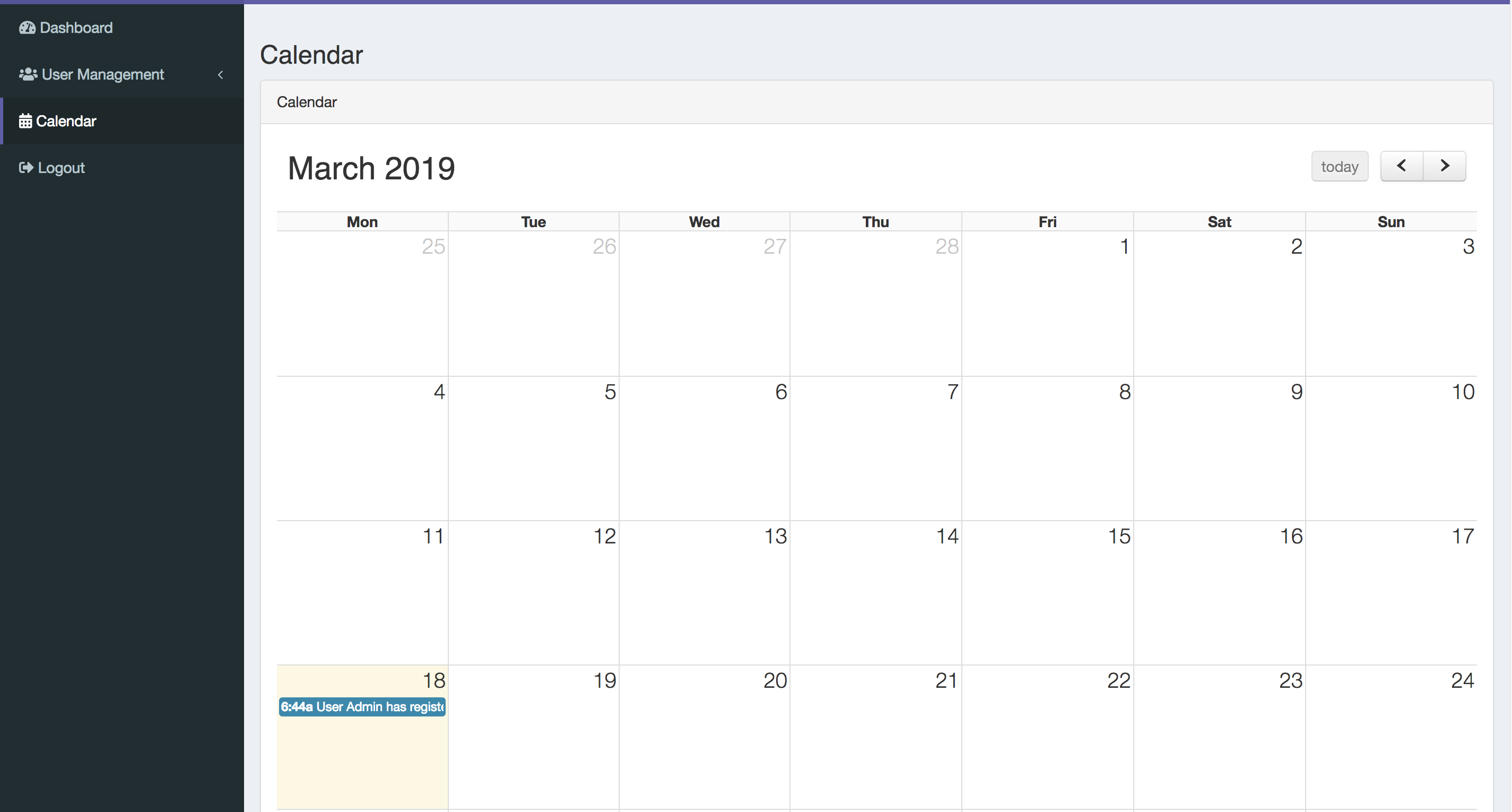 System Calendar Module - QuickAdminPanel FAQ